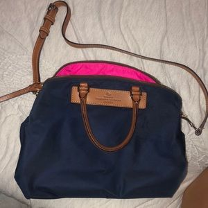 Navy blue dooney and Bourke bag